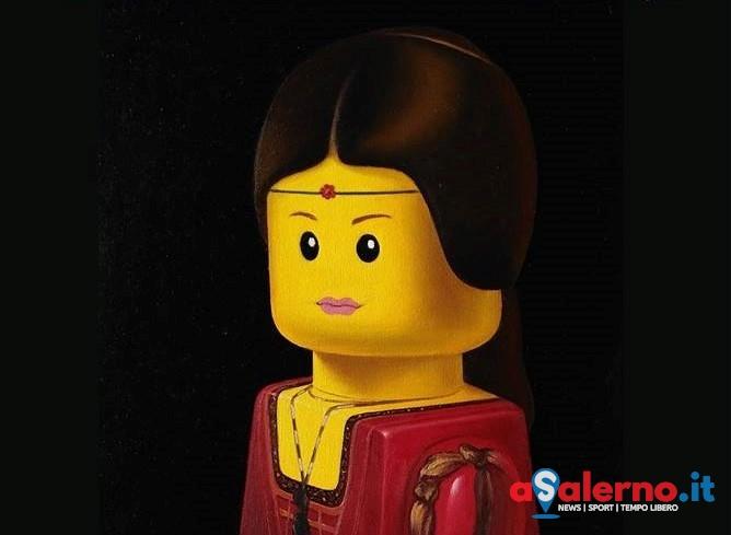 L'artista Bolcato in mostra a Salerno, i mattoncini Lego diventano olio su tela - aSalerno.it