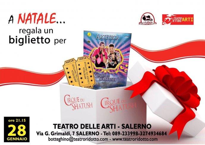 Regalo originale per Natale, già disponibili i biglietti degli Arteteca al Teatro delle Arti - aSalerno.it