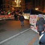 Salerno Piazza Malta. Manifestazione tra Forza Nuova e gli antagonisti di sinistra.