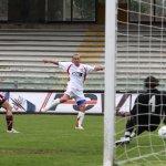 sal : Salernitana - Perugia campionato serie C1 girone B. Nella foto il gol del 2-1 di Carlo Cherubini (Foto Tanopress)