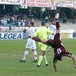 Salernitana - Perugia campionato serie C1 nella foto l'esultanza di ferraro dopo il gol del 1-0 (Foto Tanopress)
