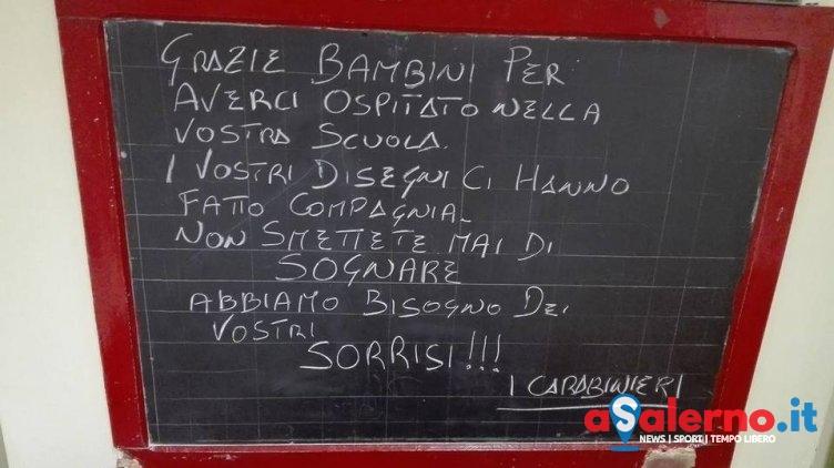 """I carabinieri scrivono ai bambini di una scuola:""""Abbiamo bisogno dei vostri sorrisi"""" - aSalerno.it"""