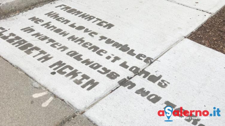Boston, sui marciapiedi ci sono poesie nascoste svelate solo dalla pioggia - aSalerno.it
