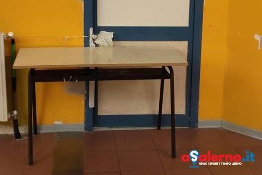Infiltrazioni d'acqua, problemi nella scuola a Matierno – LE FOTO - aSalerno.it