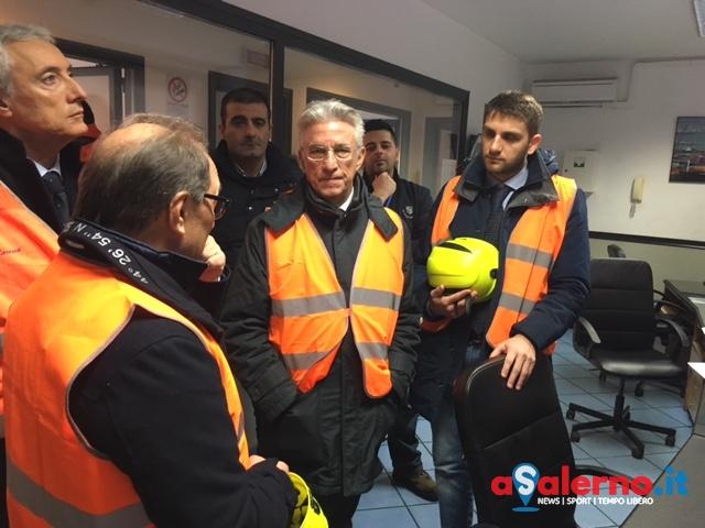 Sopralluogo del sindaco e assessore De Luca al Porto di Salerno – FOTO - aSalerno.it