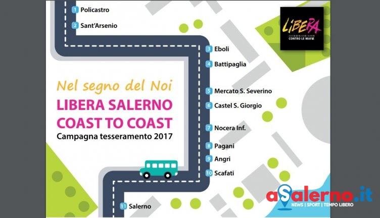 Undici tappe e 300 km contro le mafie, parte la Libera Salerno Coast to Coast - aSalerno.it