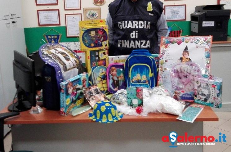 Giocattoli e prodotti per bambini contraffatti e pericolosi, maxi sequestro della Finanza - aSalerno.it