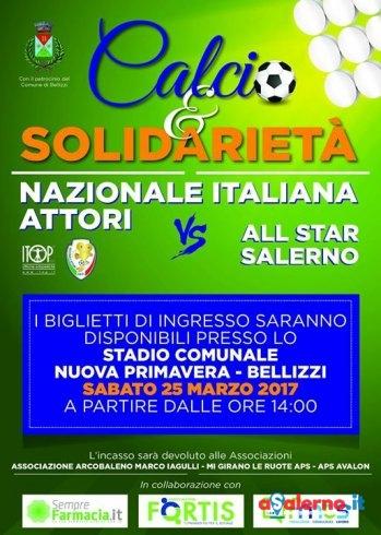 Calcio e Solidarietà, la Nazionale Italiana Attori in campo a Bellizzi - aSalerno.it