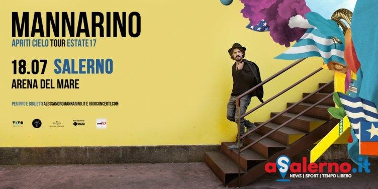Mannarino in concerto il 18 luglio all'Arena del Mare di Salerno - aSalerno.it