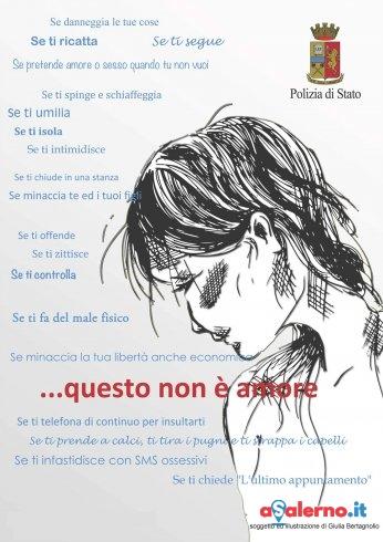 """""""Questo non è amore.."""" l'iniziativa della Questura di Salerno contro la violenza sulle donne - aSalerno.it"""