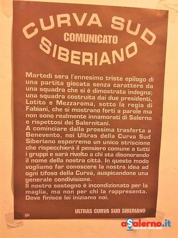 """Gli ultras si compattano: """"Da domani striscione unico per esporre il nostro pensiero.."""" - aSalerno.it"""