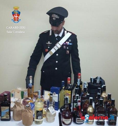 Denunciato per ricettazione, Carabinieri sequestrano 40 bottiglie di liquore a un 60enne - aSalerno.it