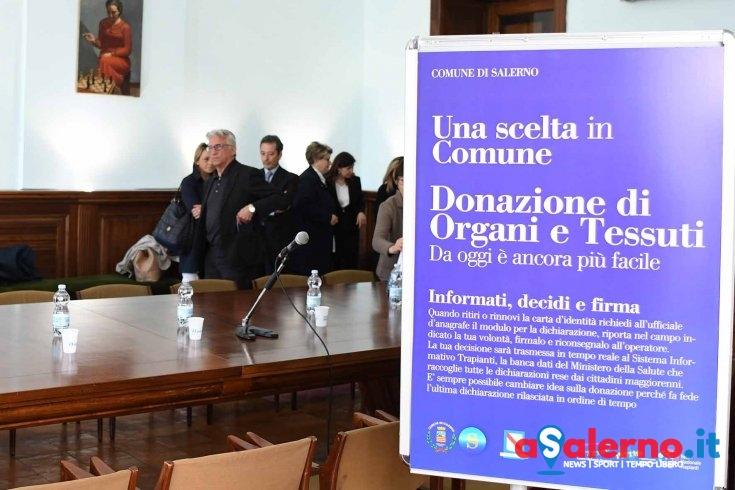 Novità per donazioni di organi a Salerno: in Comune il registro con dichiarazioni di volontà - aSalerno.it