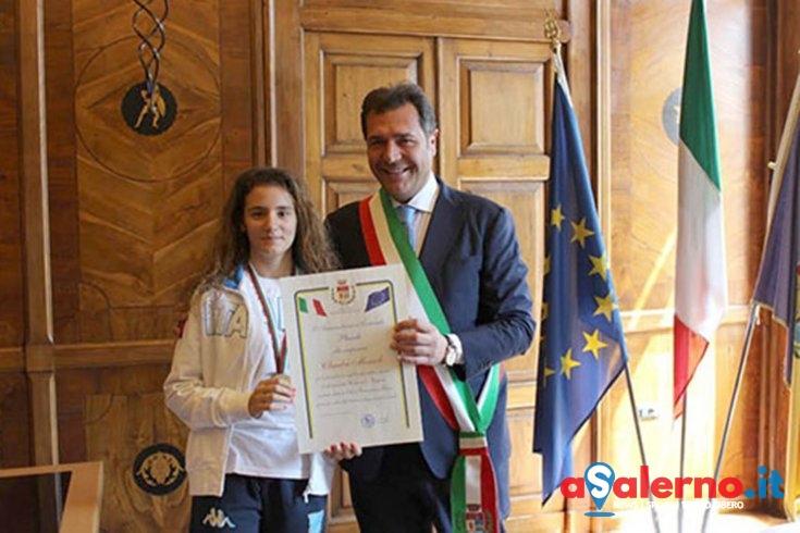 Pontecagnano, il Comune si complimenta con la fiorettista Claudia Memoli - aSalerno.it