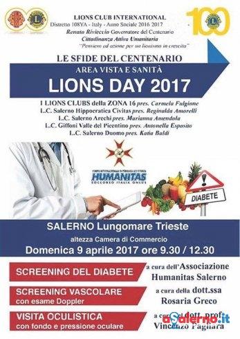 """A Salerno il """"Lions day 2017″, giornata di prevenzione con l'Humanitas - aSalerno.it"""