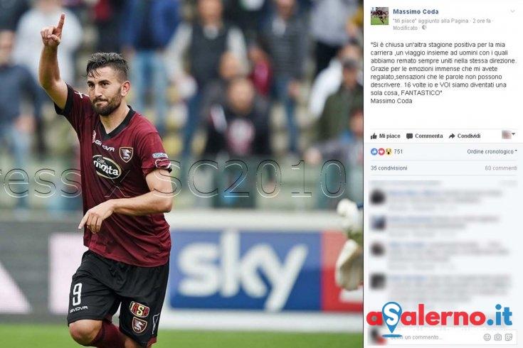 """Massimo Coda su Facebook: """"16 volte io e VOI siamo diventati una sola cosa, FANTASTICO"""" - aSalerno.it"""