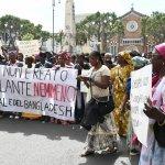 SAL - 08 05 2017 Salerno. Corteo di senegalesi e immigrati. Foto Tanopress