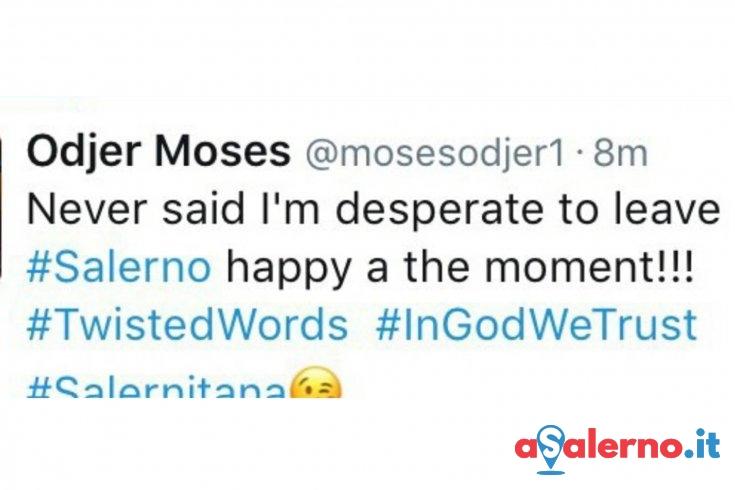 """Odjer su Twitter: """"Non voglio lasciare Salerno, sono felice in questo momento"""" - aSalerno.it"""