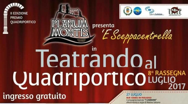 """Tutto pronto per l'ottava edizione della kermesse """"Teatrando al Quadriportico"""" - aSalerno.it"""