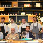 Chef e una parte della giuria con Fabio Palo