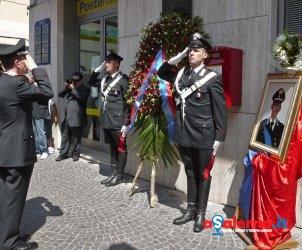 sal : commemorazione Marco Pittoni nella foto il comandante dei carabinieri Leonardo Gallitelli Foto Tanopress - Fabio Cuccurullo