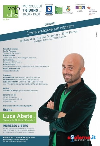 """""""Comunicare per integrare"""" a Battipaglia, ospite l'inviato Luca Abete di Striscia - aSalerno.it"""