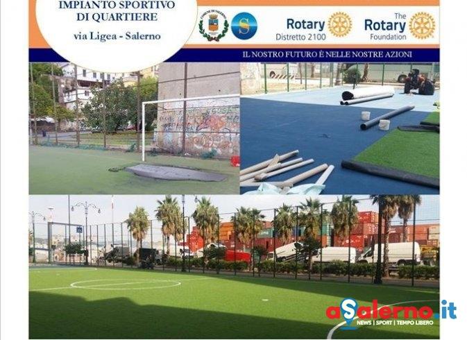 Giù il velo al nuovo impianto sportivo di via Ligea, oggi la consegna - aSalerno.it