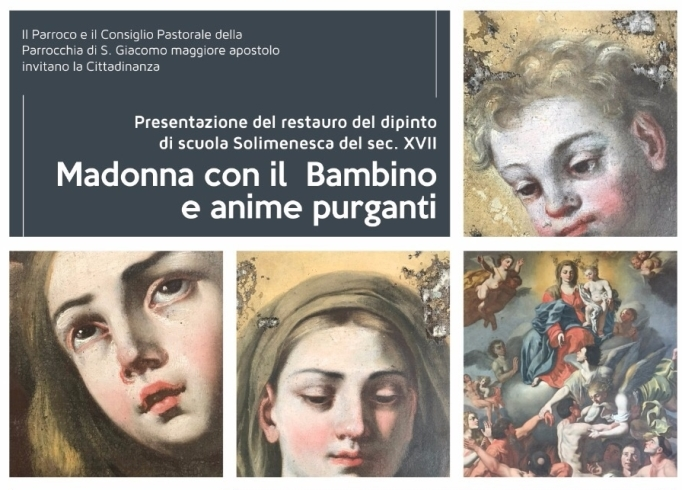 Restaurato il dipinto raffigurante la Madonna con Bambino della chiesa di San Giacomo - aSalerno.it