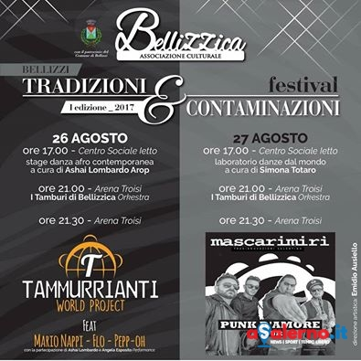 """Bellizzi, tutto pronto per il nuovo Festival """"Tradizioni e Contaminazioni"""" - aSalerno.it"""