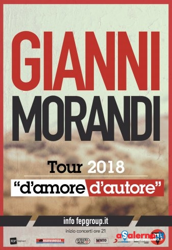 Gianni Morandi al Palasele: a Eboli sarà unica data in Campania - aSalerno.it