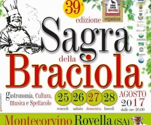 Manifesto sagra della braciola 39 Montecorvino Rovella