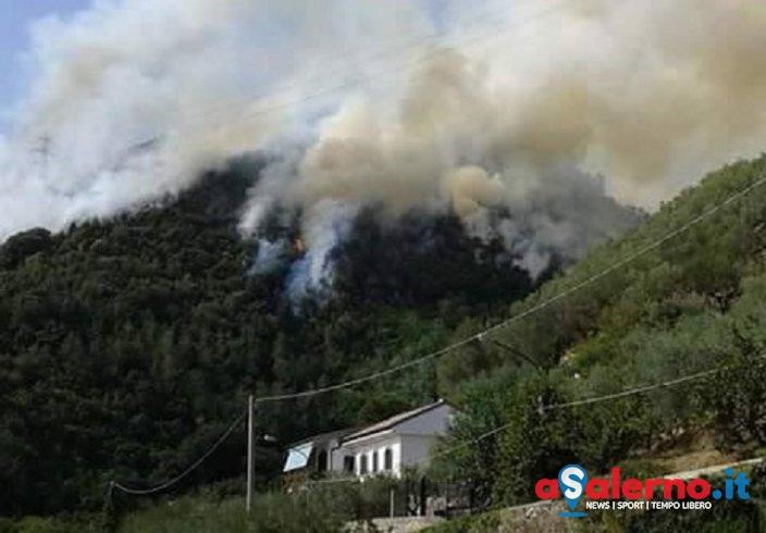 Incendio di grosse proporzioni sul Monte Tubenna – FOTO - aSalerno.it