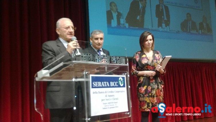 Vincenzo De Luca e Anna Falchi insieme per i 40 anni della Bcc Aquara - aSalerno.it
