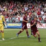 sal : salernitana - pescara campionato serie C 2007-08 Nella foto l'esultanza di piccioni dopo il gol del 1-0 Foto Tanopress