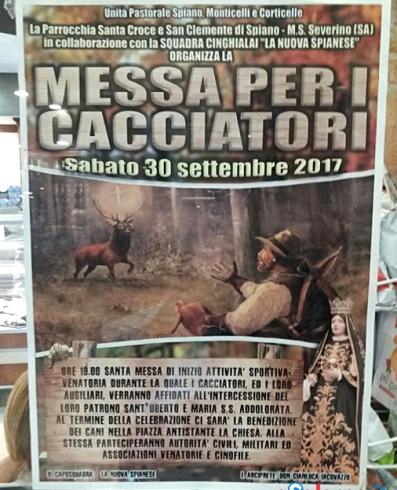 Messa per i cacciatori a Salerno, l'ira di Veg in Campania - aSalerno.it