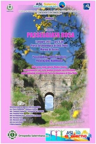 """Al Parco Archeologico di Velia torna la """"passeggiata rosa"""" contro il cancro al seno - aSalerno.it"""