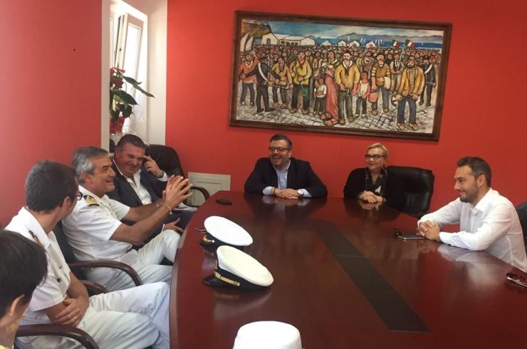 Neo comandante del Compartimento marittimo di Salerno in visita ad Agropoli - aSalerno.it