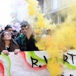 SAL - 13 10 2017 Salerno Corso. Protesta degli studenti. Foto Tanopress