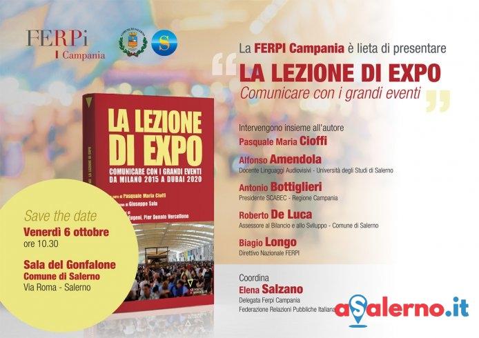 """Presentato al Comune il libro """"La Lezione di Expo, comunicare con i grandi eventi"""" - aSalerno.it"""