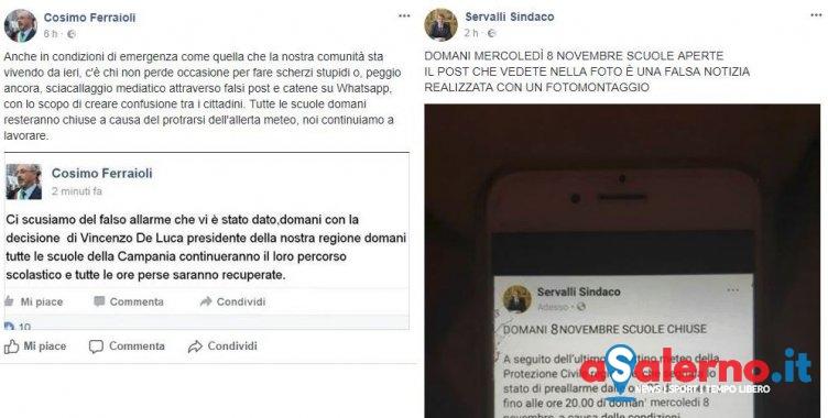 """Bufale su scuole chiuse e """"ore perse"""" da recuperare, il caso a Cava e Angri - aSalerno.it"""