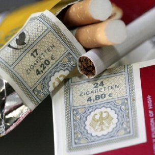 GERMANY, revenue stamps on cigarette packets.