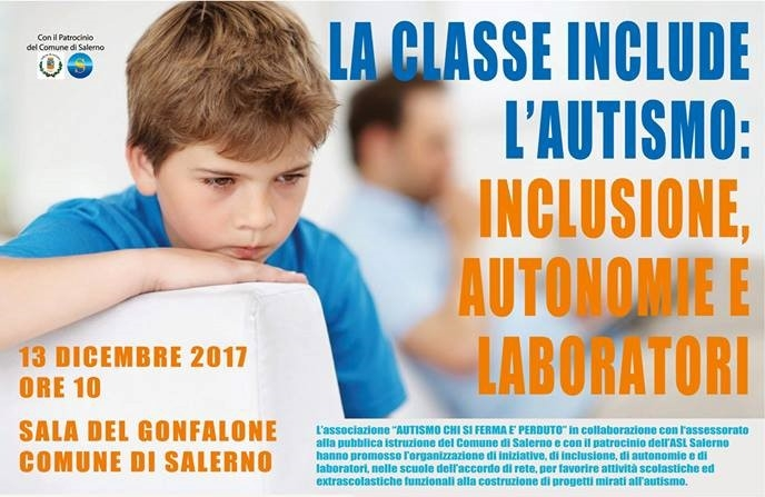 """Domani la presentazione a Salerno del progetto """"La classe include l'autismo"""" - aSalerno.it"""
