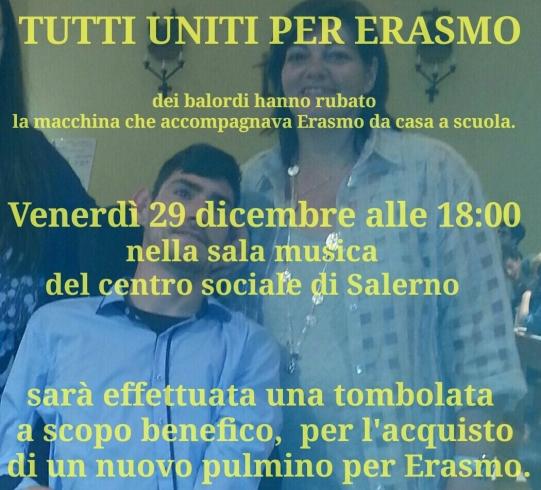 Solidarietà per Erasmo, una tombolata di beneficenza al Centro Sociale - aSalerno.it