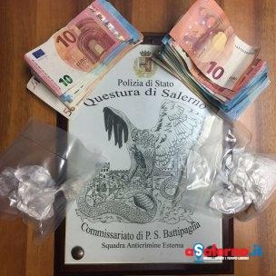 droga e soldi sequestrati dalla Polizia