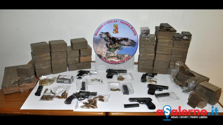 Hashish e pistole: maxi blitz della Narcotici di Salerno - aSalerno.it