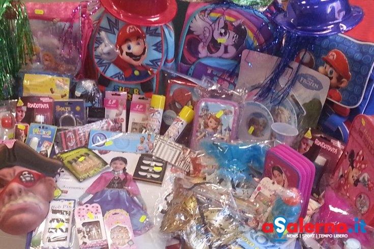 Carnevale, sequestrati ad Angri più di 40mila prodotti illegali – FOTO - aSalerno.it