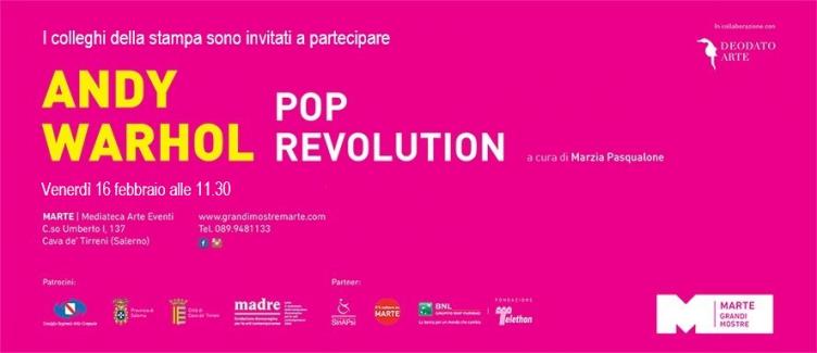 """Tutto pronto per la """"Andy Warhol pop revolution"""" - aSalerno.it"""