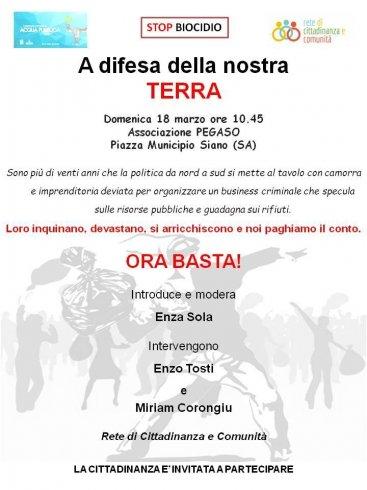 Politica, malaffare e gestione dei rifiuti: domenica incontro aperto a Siano - aSalerno.it