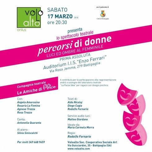 """All'Auditorium Ferrari la prima assoluta di """"Percorsi di donne – luci ed ombre al femminile"""" - aSalerno.it"""