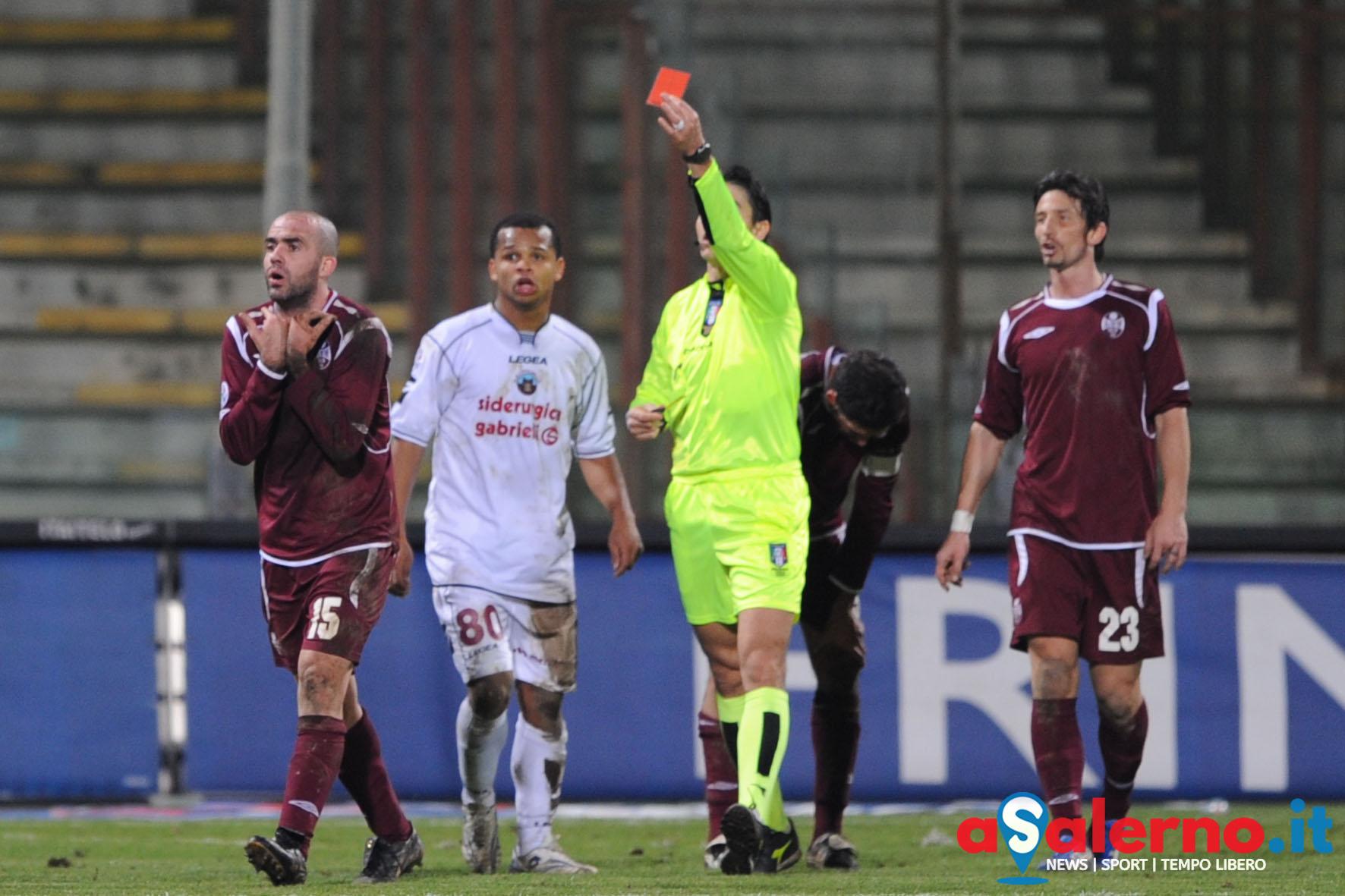 Sal : salernitana-Cittadella Campionato Serie B 2008/09 nella foto l'espulsione di coppola Foto Tanopress